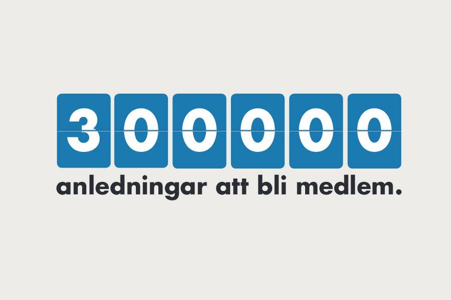300 000 anledningar att bli vår nya kollega