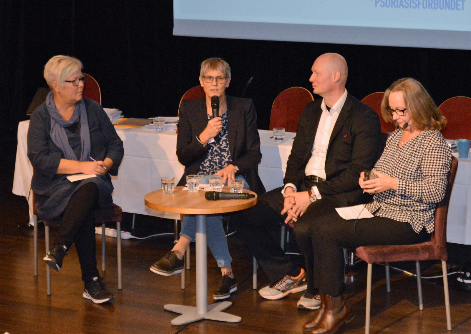 Riksstämman 2017 forskarsamtal med Tina Norgren Gerd Marie Alenius Marcus Scmitt-Egenolf Gunnel Köhler Foto Bo Sandberg