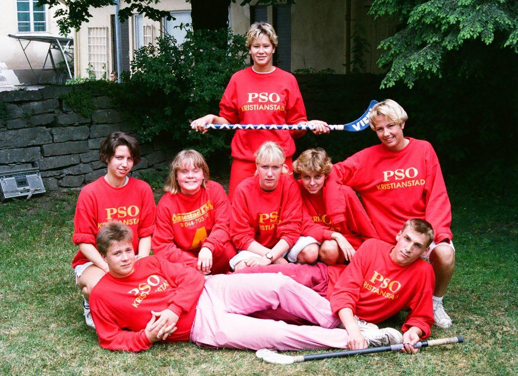 Ung med psoriasis Innebandylag PSO Kristianstad